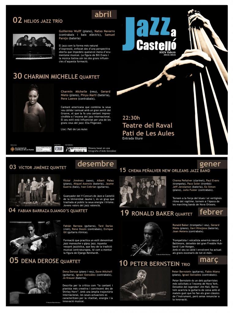 Díptic XXIV Jazz a Castelló - WEB
